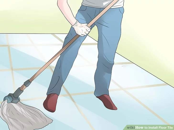 How to install floor tile step by step
